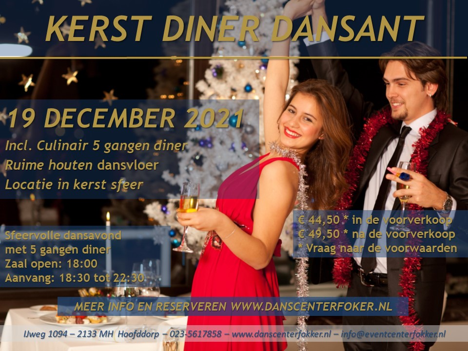 Kerst Diner Dansant 2021
