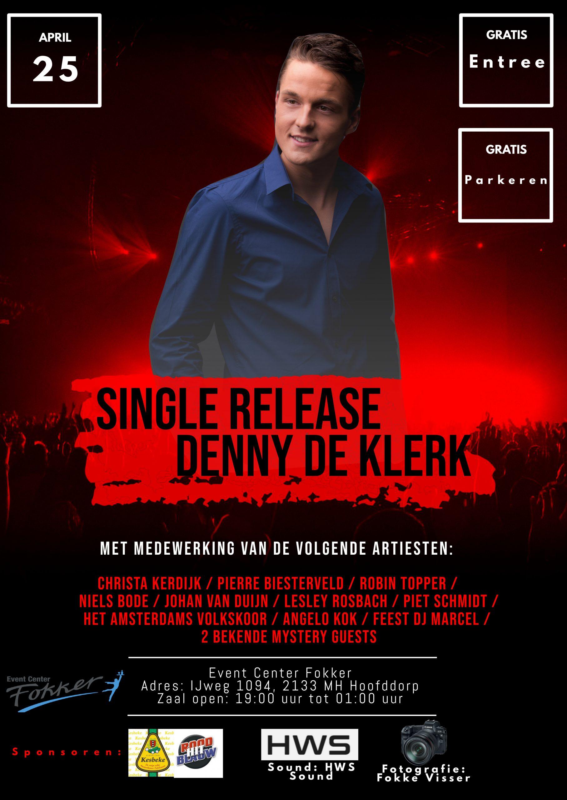 Single release Denny De Klerk